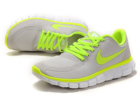 2012 Womens Nike Free 5.0 V4 Grey Fluorescence Green #Grey #Womens #Sneakers