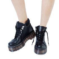 Customs Ba Bota Borcego Mujer Cuero Ec Zapato Borcegos Botas