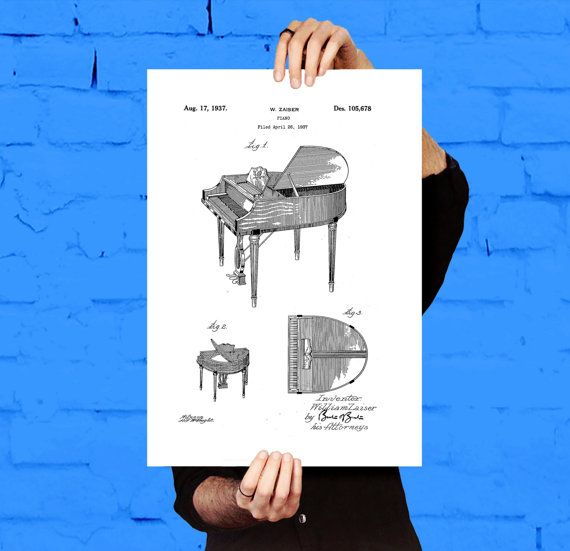 Wurlitzer Butterfly Piano Model 235 Patent, Wurlitzer Piano Poster, Piano Print, Piano Art, Piano Decor, Piano Blueprint by STANLEYprintHOUSE  1.00 USD  This poster is printed using high quality archival inks, and will be of museum quality. Any of these posters will make a great affordable gift, or tie any room together.  Please choose between different sizes and colors.  These posters are shipped in mailing tubes via USPS First Clas ..  https://www.etsy.com/ca/listing/494499463/wu..