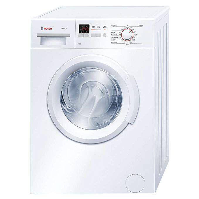Bosch Wab28161gb Freestanding A Rated Washing Machine In White Front Loader Washing Machine Front Loading Washing Machine Compact Washer