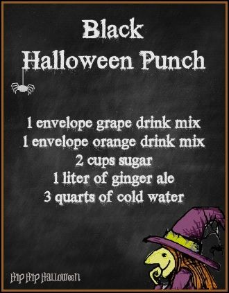 black halloween punch recipe tutorial on serving it over dry ice