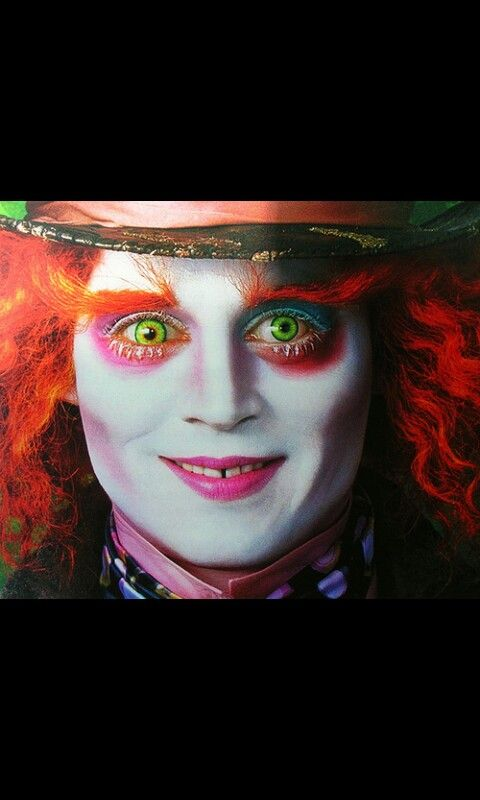 Mad hatter makeup--- need this for my costume!! Pin if you are being the same!!