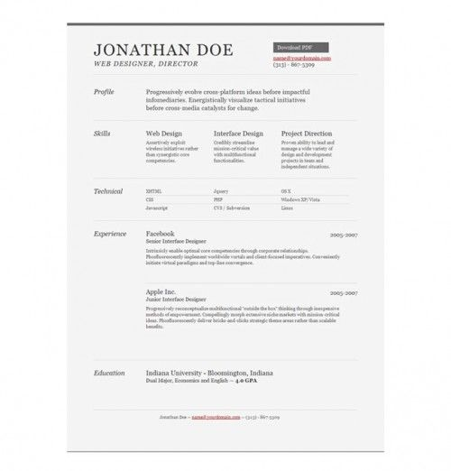 Resume Templates, Basic Resume And Job Interviews