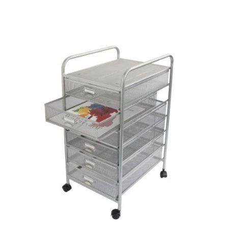 Amazon.com: Design Ideas Mesh Art Cart, 6 Drawer, Silver: Home & Kitchen