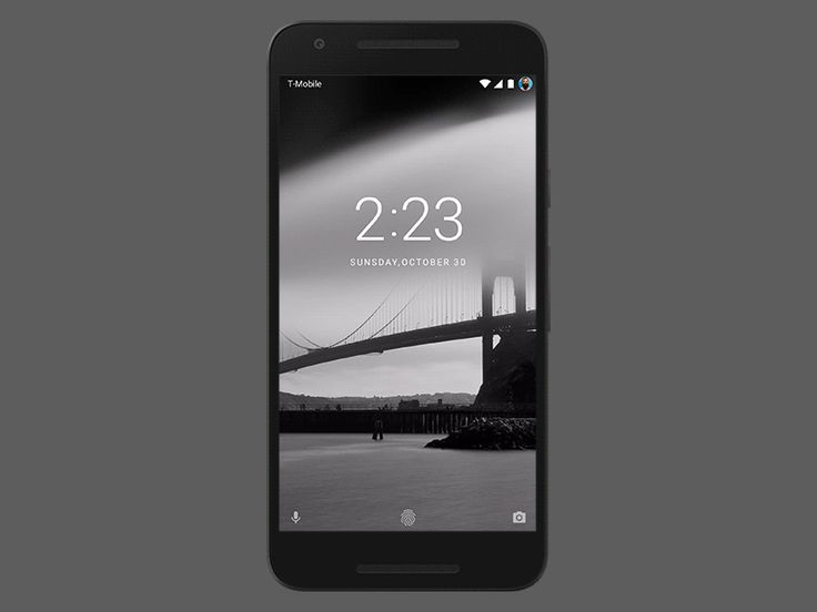 Android N Lockscreen (Made with ProtoPie)