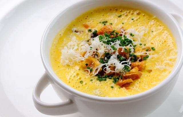 Dominic Chapman's warming butternut squash soup is a fabulous starter or main course. This is an easy butternut squash soup recipe to prepare