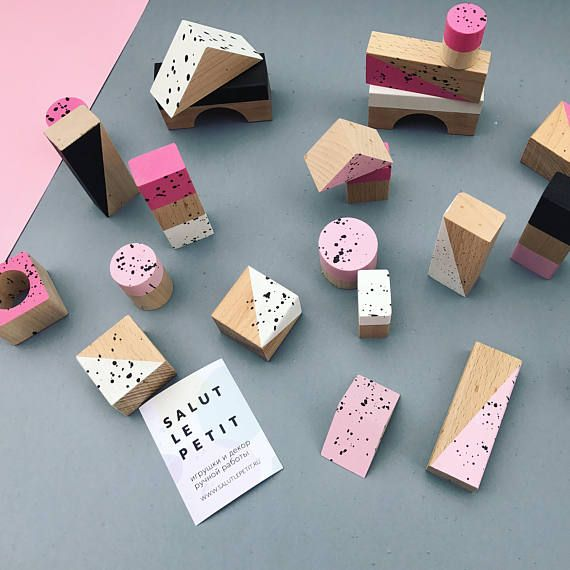 WOODEN BUILDING BLOCKS / wooden toys / toddler gift / nature