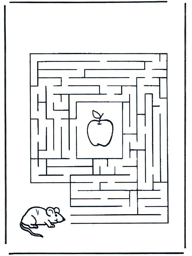 werkblad doolhof-muis
