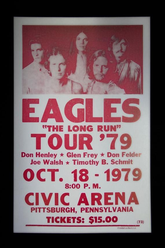 Eagles Retro Concert Poster Vintage Concert Posters Concert