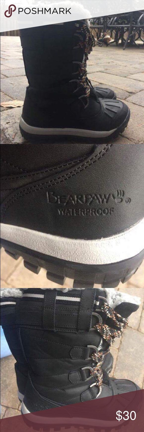 Bearpaw waterproof winter boots! Worn but in very good condition!! Size 7, water proof... Nothing will get in there, plus they are very, very warm. BearPaw Shoes Winter & Rain Boots