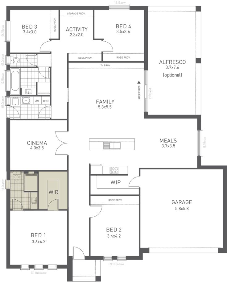 Design Ten Floorplan Option A   From The Weeks And Macklin Homes Choice  Series. A