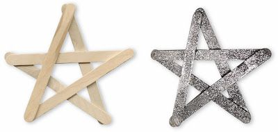 Art Projects for Kids: Popsicle Stick Glitter Star