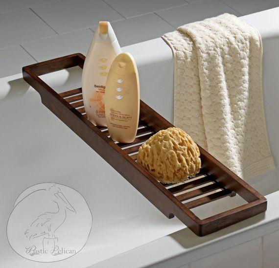 Bathtub Tray Rustic Bathtub Caddy Tub Tray Wood Tub