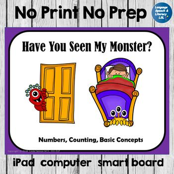Download to iPad, tablet, computer, and/or smart board.Great for telepractice!This packet contains cute, colorful, fun, and motivational activities that may be used to help early childhood and kindergarten students basic concepts, colors and counting.