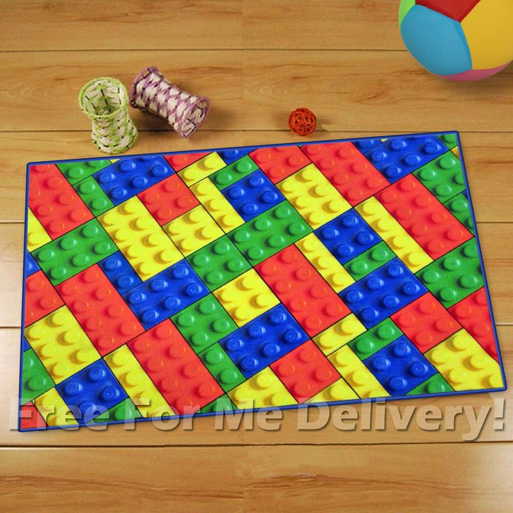 Quality Kids Lego Building Blocks Fun Floor Rug Xs