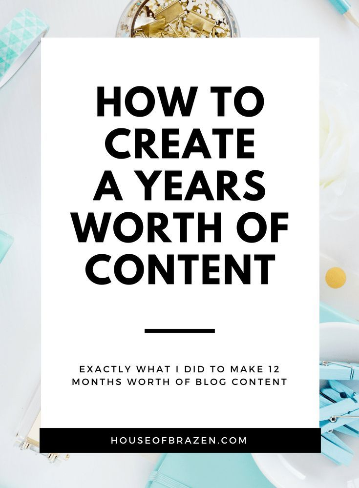 How I Created A Years Worth Of Blog Content