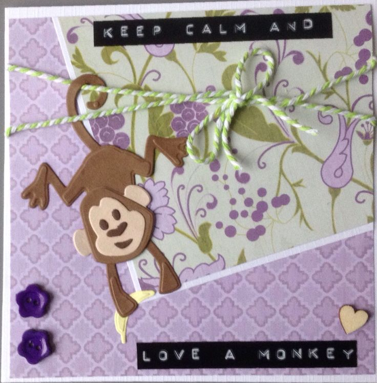 """Keep calm and love a monkey"" Marianne Design COL 1399"