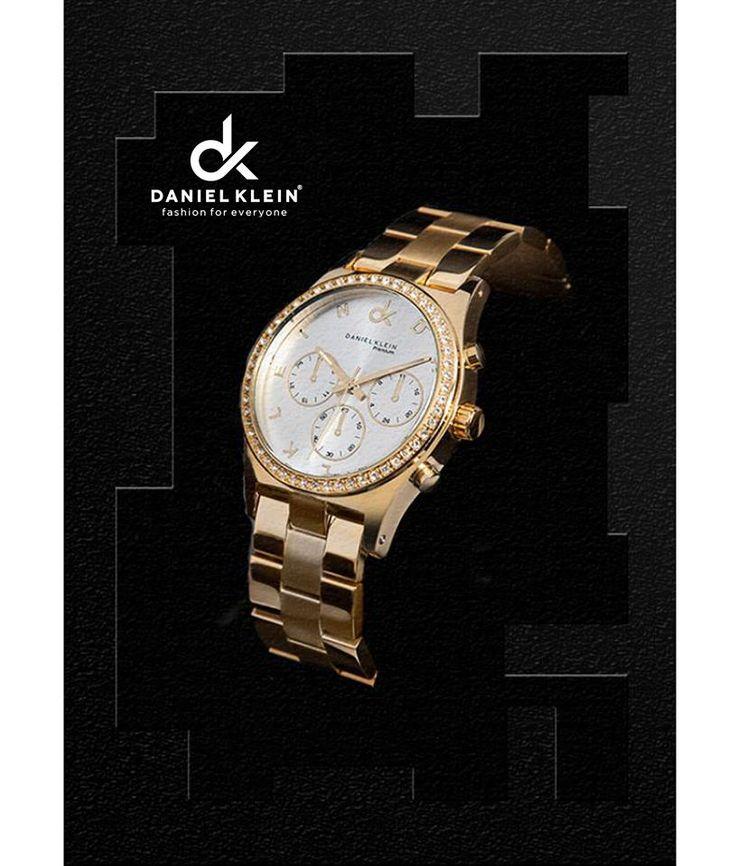 Gold and black. #Watches #danielKlein #danielKleinWatches