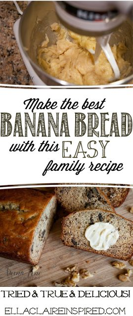Passed down for 3 generations, this delicious Banana Bread Recipe will not disappoint! Easy and Delicious!