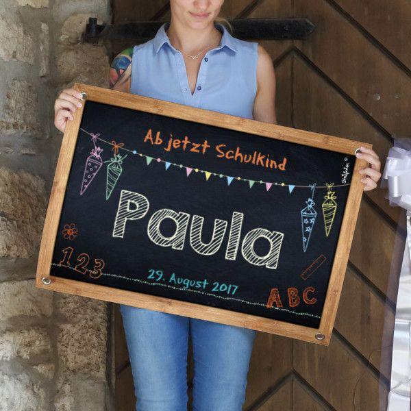 Banner Einschulung Tafeloptik Name Wunschtext Datum