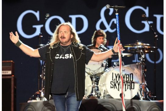 Johnny Van Zant, frontman for Lynyrd Skynyrd and younger brother of the band's late co-founder Ronnie Van Zant, performs with the band at the Cisco Ottawa Bluesfest on July 18, 2009.