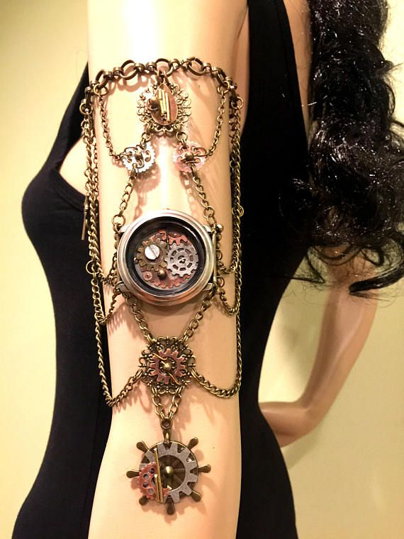 Steampunk Armband. Steampunk Jewelry. Armlet. Arm Chain. Upper