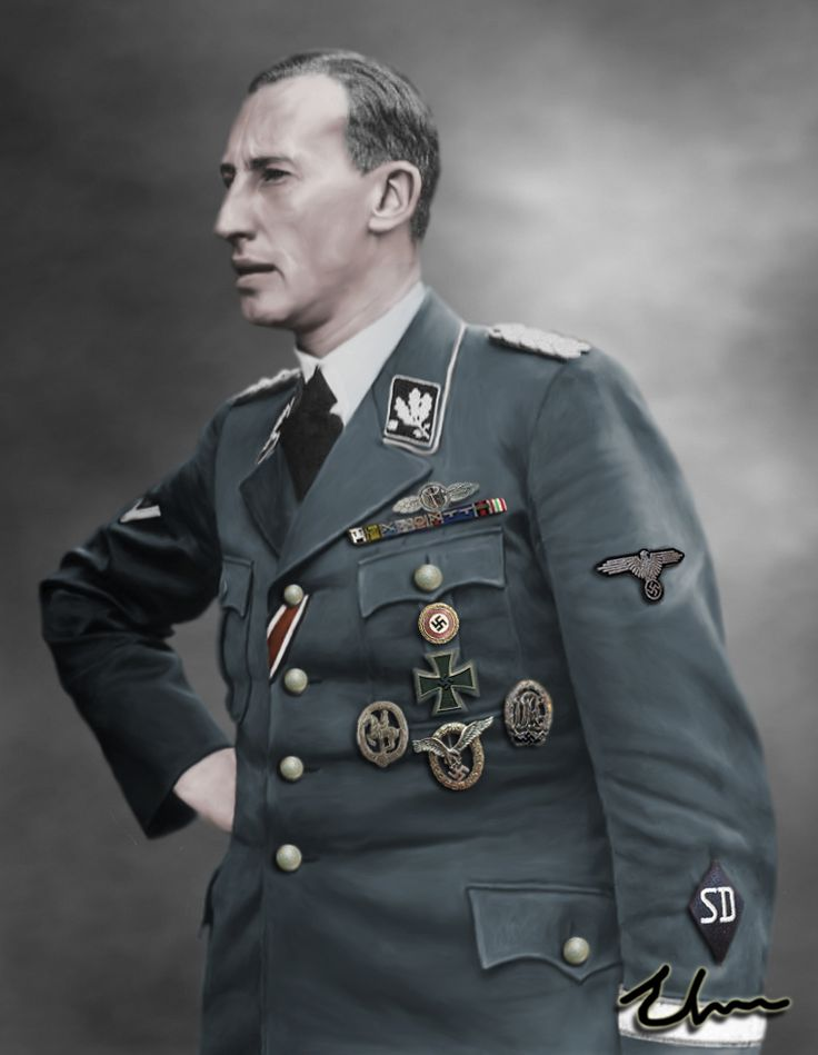 """Reinhard Heydrich 38. (1904 – 1942)  Nickname: """"The Hangman""""  Death: Died of Sepsis on 4 June 1942 as a result of an assassination attempt 8 days earlier."""