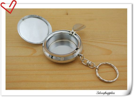 5cm  2 inch   Blank Pocket ashtray key chain portable