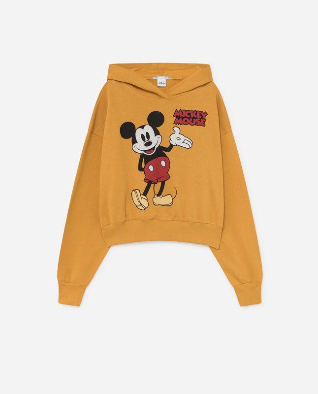 Lefties Sudadera Cropped Mickey Ropa Disney Trajes Disney Sudaderas
