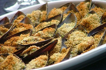 Italian food - Cozze gratinate