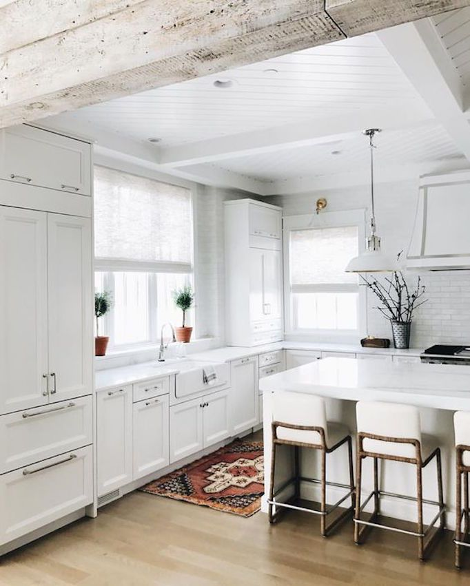 17 Best Ideas About Rustic White Kitchens On Pinterest