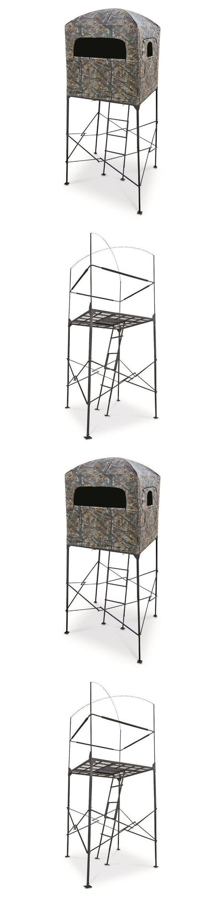 Tree Stands 52508: Deer Stand W Blind 7 Hunting Tree Big Game Ladder Shooting Camo Hunter Quad -> BUY IT NOW ONLY: $398.09 on eBay! #deerhuntingblinds