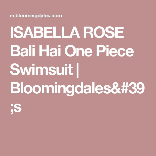ISABELLA ROSE Bali Hai One Piece Swimsuit | Bloomingdales's