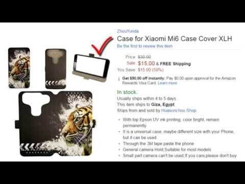 Nice Free Case for Xiaomi Mi6 Case Cover XLH With  Amazon Rewards Visa Card