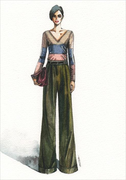Jason Wu Pre-Fall 2011. Fashion Illustration by Anoma Natasha Paleebut