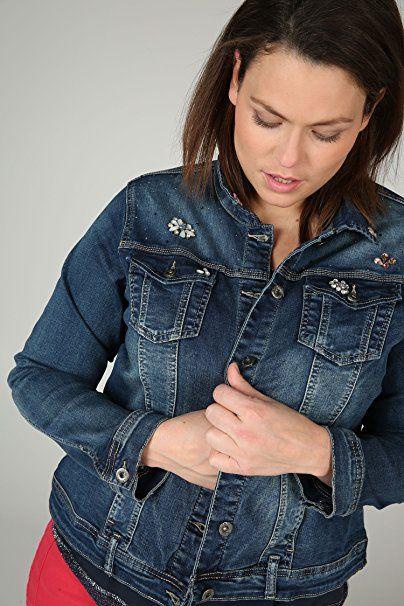 Paprika Damen große Größen Jeansjacke mit Schmuckelementen  Paprika  -  Jeansjacke frauen jeansjacken damen jeans outfit j… 75ba2bd2ce