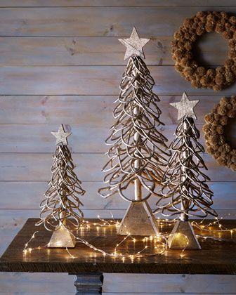 Scallop Vine #Trees at #Horchow #Holiday #Christmas #Home #Decor
