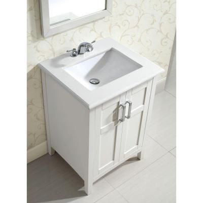 Photos Of Simpli Home Winston in Vanity in Soft White with Quartz Marble Vanity Top in White Vanity SinkBath