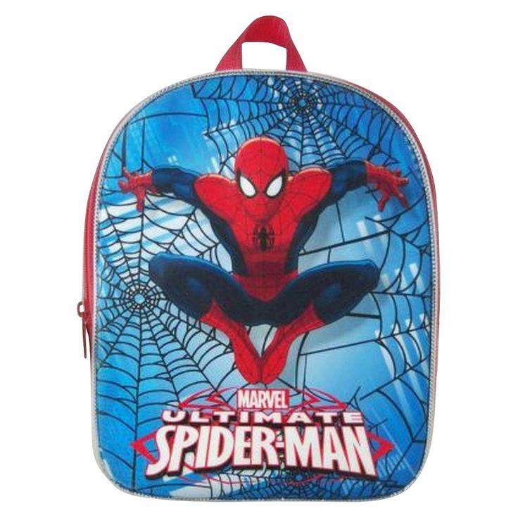 Boys' Spiderman Backpack, Black