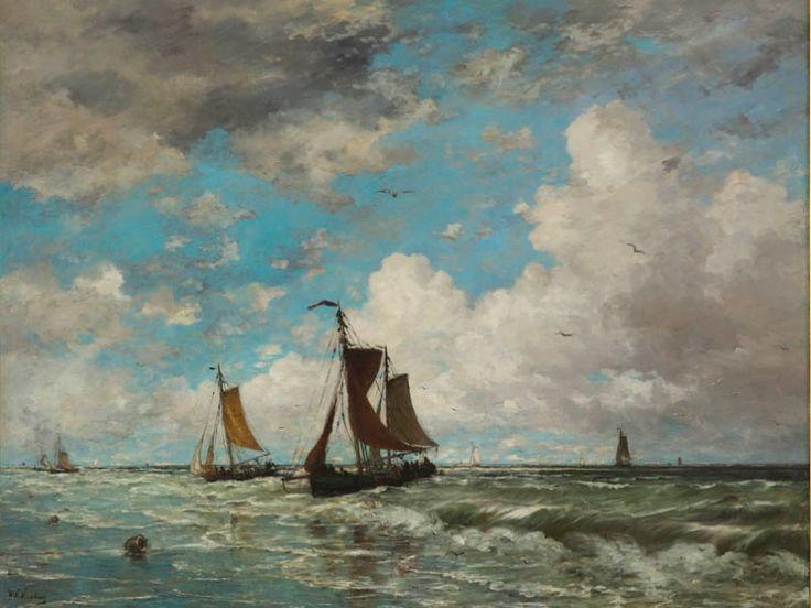 Hendrik Willem Mesdag, 'Schepen in de branding'