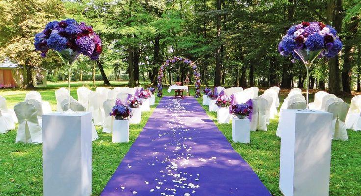 Park pałacowy -ślub w plenerze