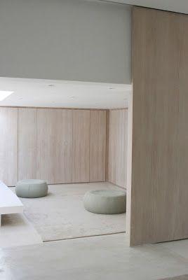 rustig materiaalgebruik = relaxruimte / muziekruimte