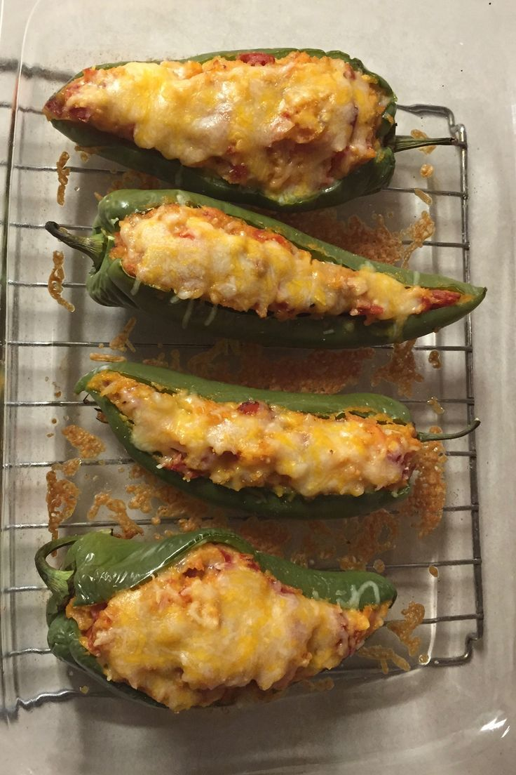 Stuffed Anaheim Peppers With Mexican Rice & Beans, Jack ...
