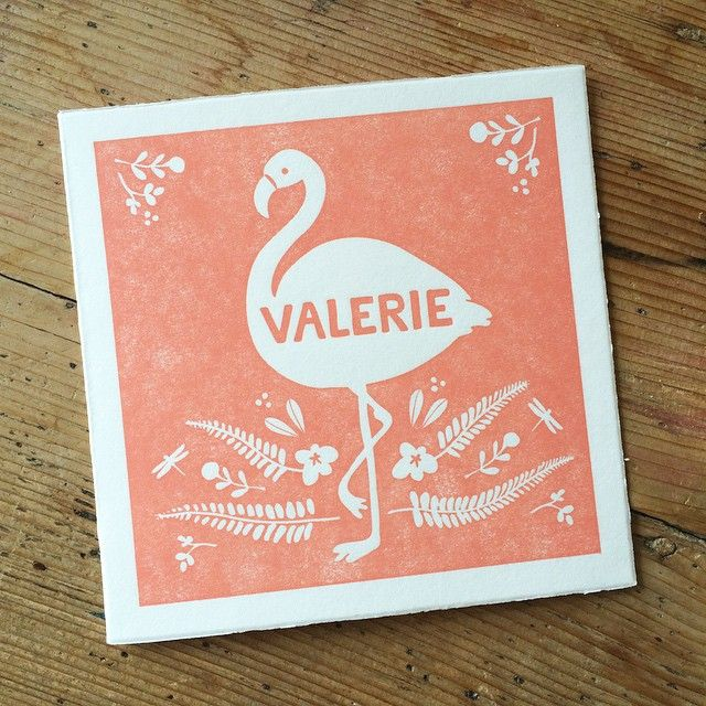 Working on the birth announcement for the brother or sister of #valerie #letterpress #birthannouncement #lafarme