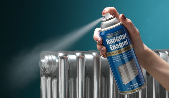 spray-paint-a-radiator