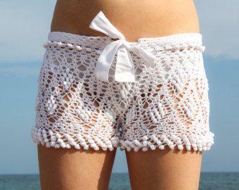 Patrón de ganchillo para mujer cortos patrón por LecrochetArt