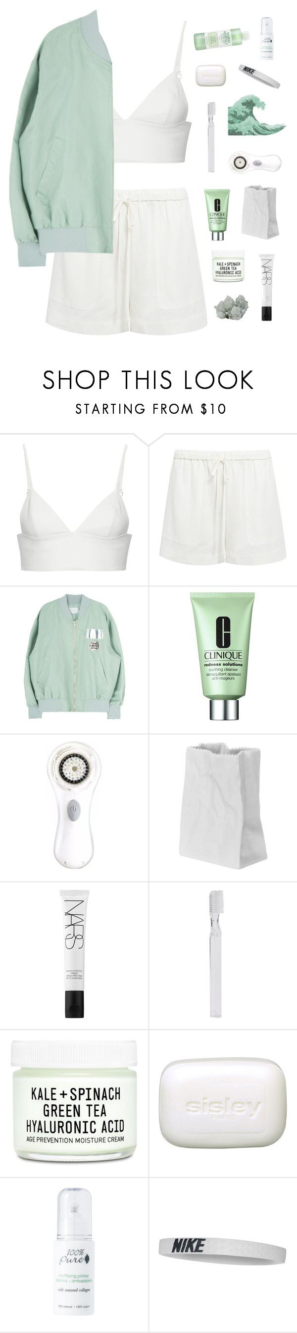 """mint"" by starry-nostalgia ❤ liked on Polyvore featuring T By Alexander Wang, TIBI, Clinique, Clarisonic, Rosenthal, NARS Cosmetics, Supersmile, Youth To The People, Sisley and 100% Pure"