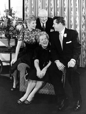 I Love Lucy - (L-R): Lucille Ball, William Frawley, Vivian Vance, and Desi Arnaz.