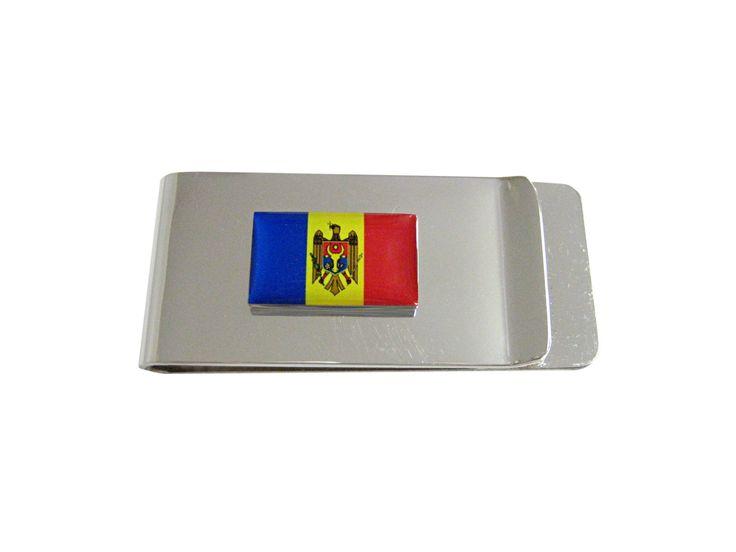 Moldova Flag Money Clip