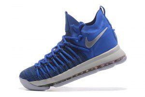 2ca818aa3c384 Men s Nike Zoom KD 9 Elite Kevin Durant Light Blue Grey boys Basketball  Shoes